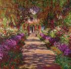 A Pathway in Monets Garden Giverny by Claude Monet