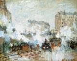 Arrival of a Train by Claude Monet