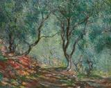 Tree Paintings - Olive Trees in the Moreno Garden by Claude Monet
