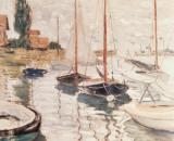 Sailboats on the Seine by Claude Monet