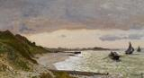 The Seashore At Sainte Adresse by Claude Monet