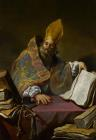 Saint Ambrose by Claude Vignon