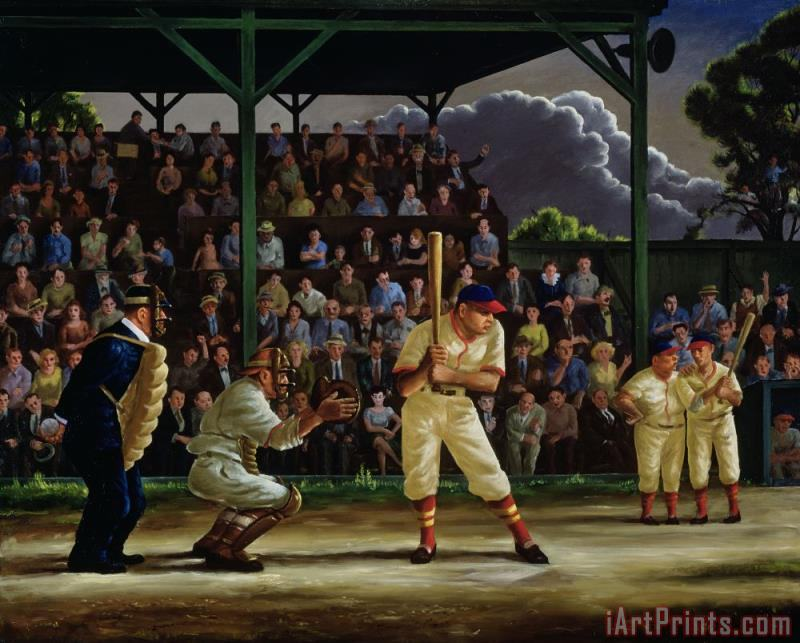 Minor League painting - Clyde Singer Minor League Art Print