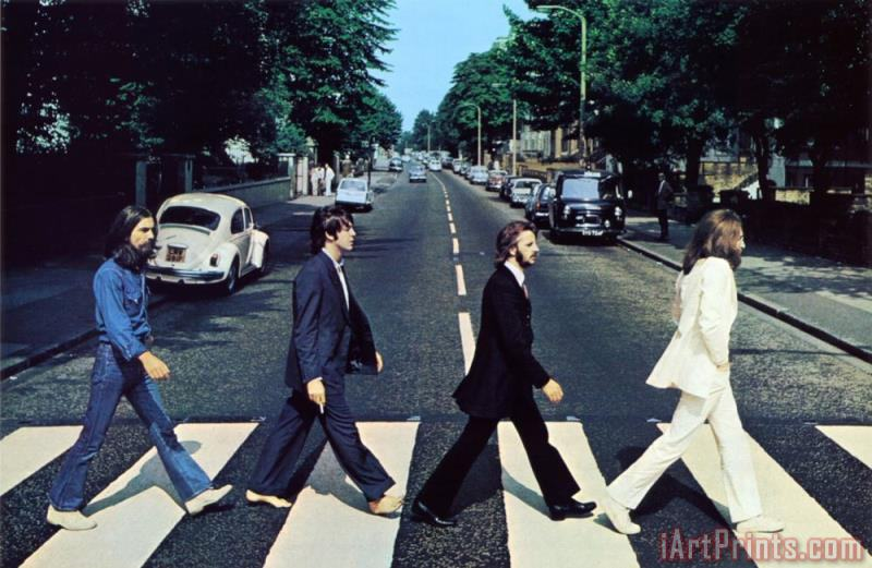 The Beatles Abbey Road III painting - Collection The Beatles Abbey Road III Art Print