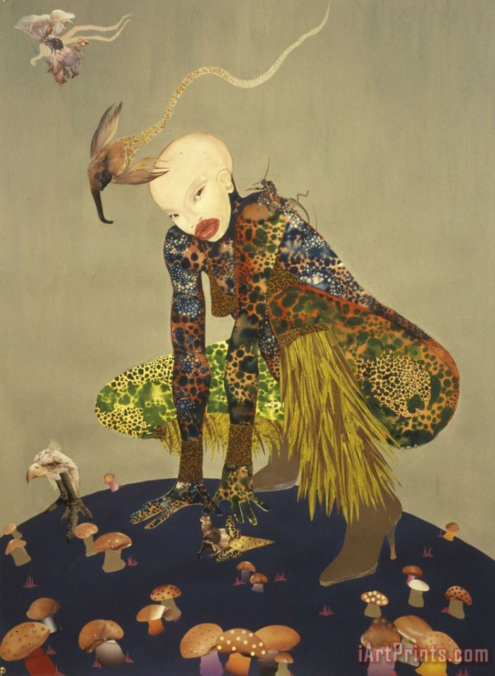 Wangechi Mutu Riding Death in My Sleep painting - Collection Wangechi Mutu Riding Death in My Sleep Art Print