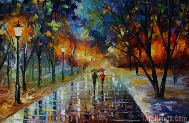 Winter Park painting - Leonid Afremov Winter Park Art Print