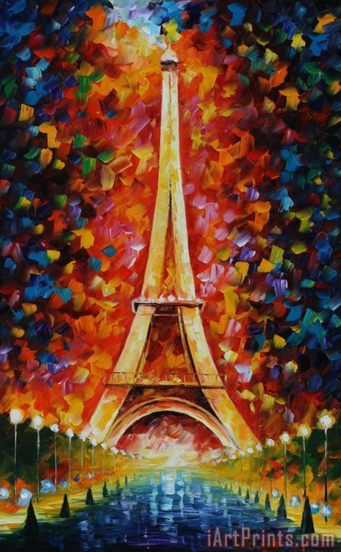 Eiffel Tower painting - Leonid Afremov Eiffel Tower Art Print
