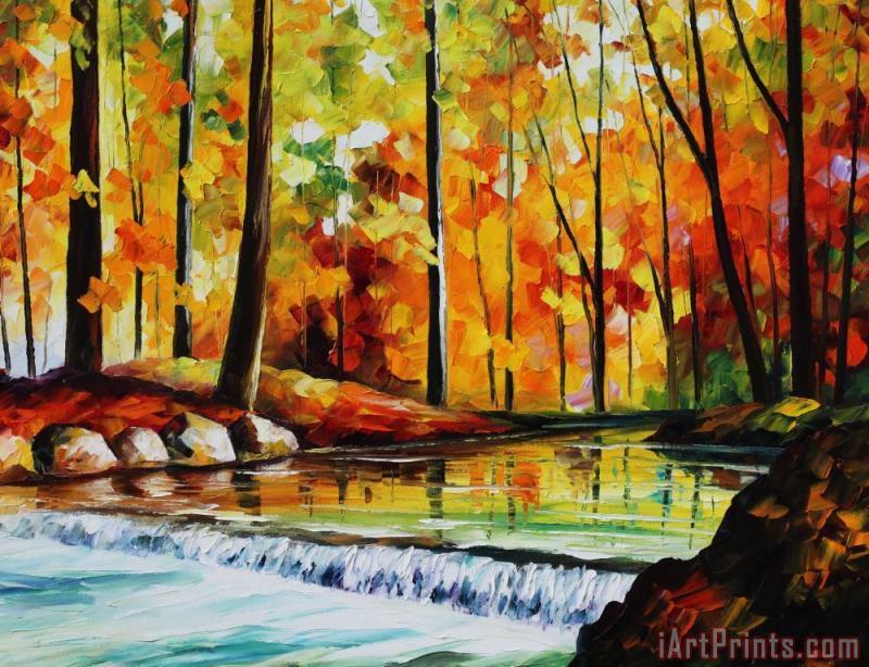 leonid afremov forest stream large size photo large print available