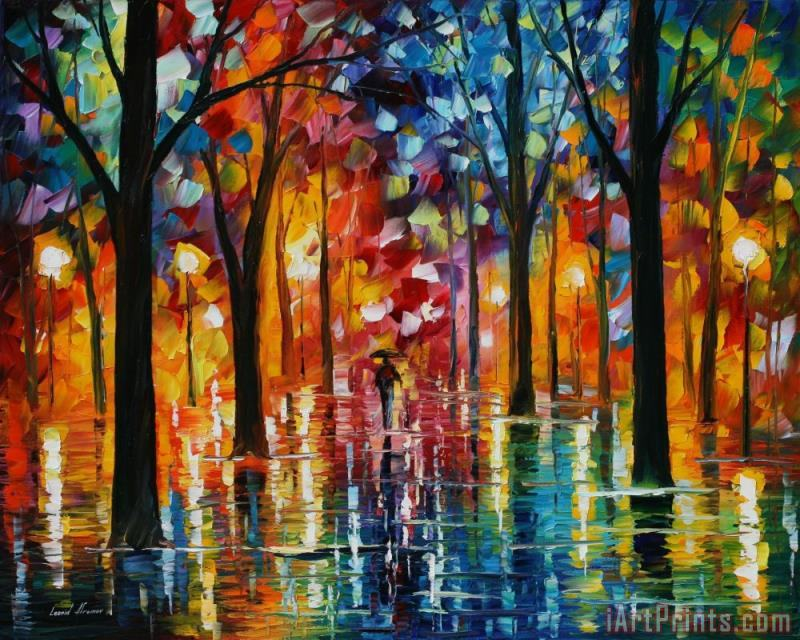 Leonid Afremov Rain Of Fire Art Print