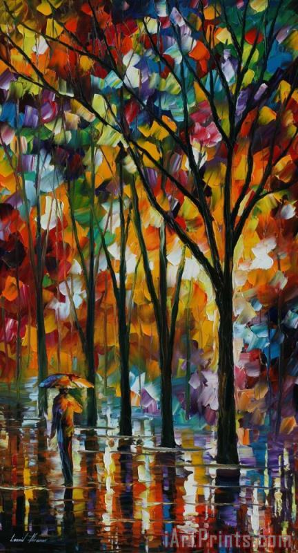 The Spectrum Of The Rain painting - Leonid Afremov The Spectrum Of The Rain Art Print