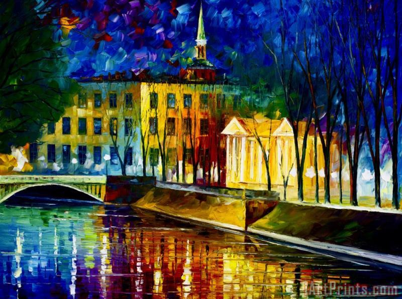 Leonid Afremov Very Large Winter Vibrations Art Print
