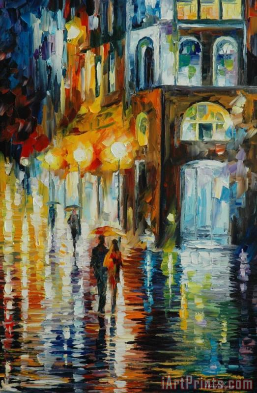 West Palm Beach - City Place painting - Leonid Afremov West Palm Beach - City Place Art Print