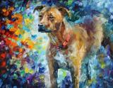 Dog - Commissioned Painting by Leonid Afremov