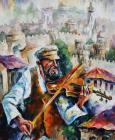 Fiddler - Commissioned painting by Leonid Afremov