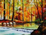 Forest Stream Large Size Photo Large Print Available by Leonid Afremov