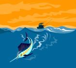 Sailfish fishing boat by Collection 10