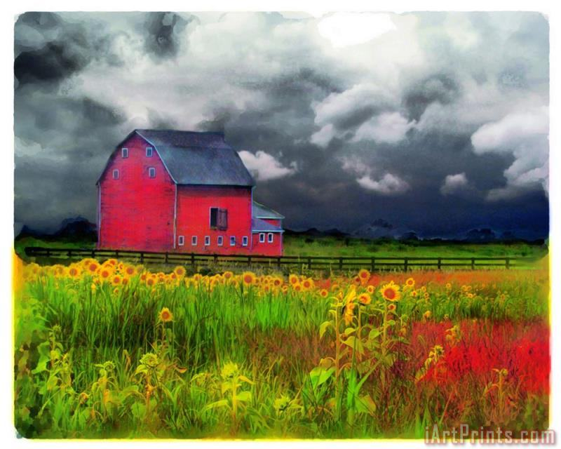 The red barn painting - Collection 8 The red barn Art Print