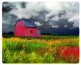 The red barn by Collection 8