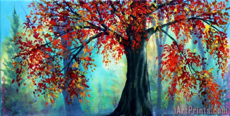 Autumn Leaves painting - Collection 9 Autumn Leaves Art Print