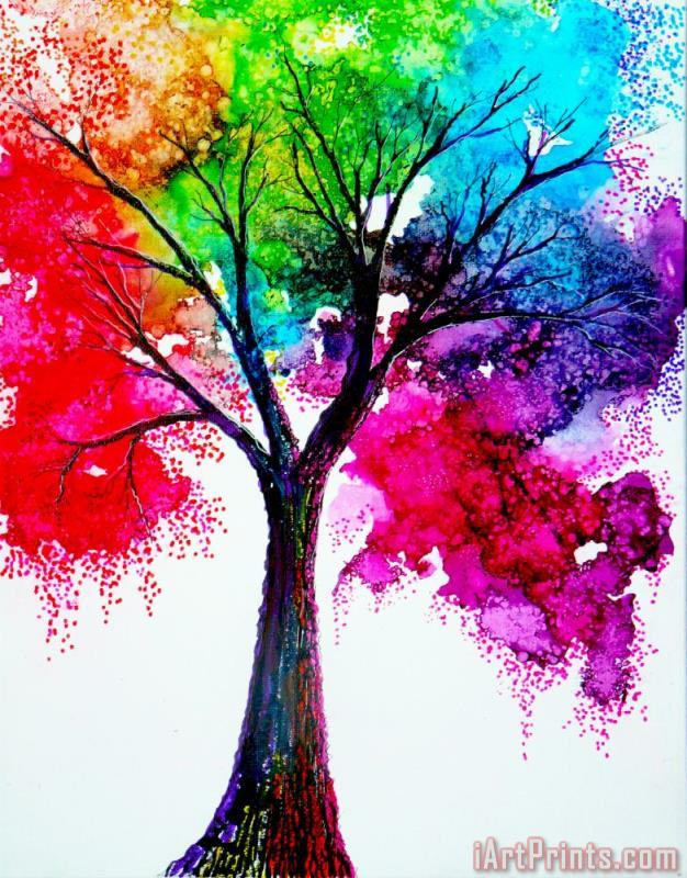 Rainbow Tree painting - Collection 9 Rainbow Tree Art Print