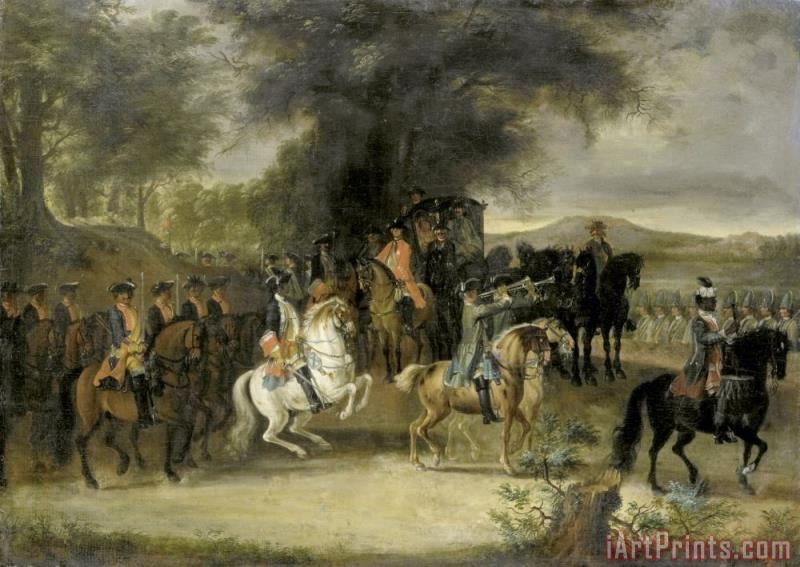 Cornelis Troost Inspection of a Cavalry Regiment, Perhaps by William of  Hesse Homburg painting - Inspection of a Cavalry Regiment, Perhaps by  William