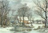 Winter in the Country - the Old Grist Mill by Currier and Ives