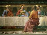 Detail from the Last Supper by Domenico Ghirlandaio