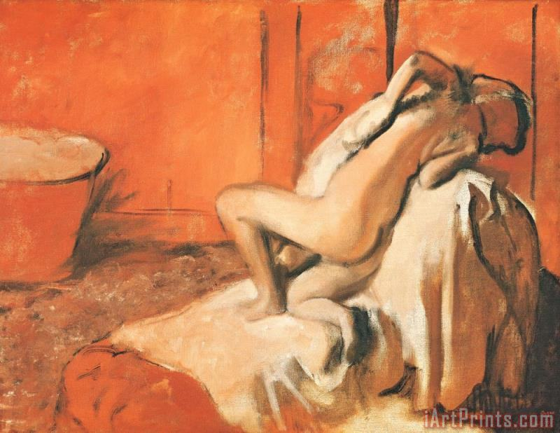 After the Bath painting - Edgar Degas After the Bath Art Print