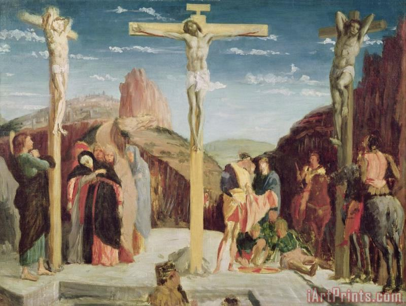 Calvary, After a Painting by Andrea Mantegna (1431 1506) (oil on Canvas) painting - Edgar Degas Calvary, After a Painting by Andrea Mantegna (1431 1506) (oil on Canvas) Art Print
