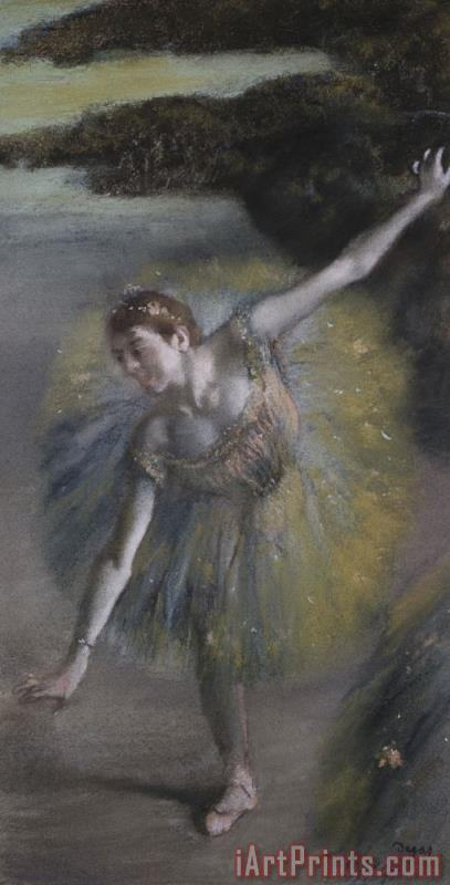 Dancer in Green painting - Edgar Degas Dancer in Green Art Print