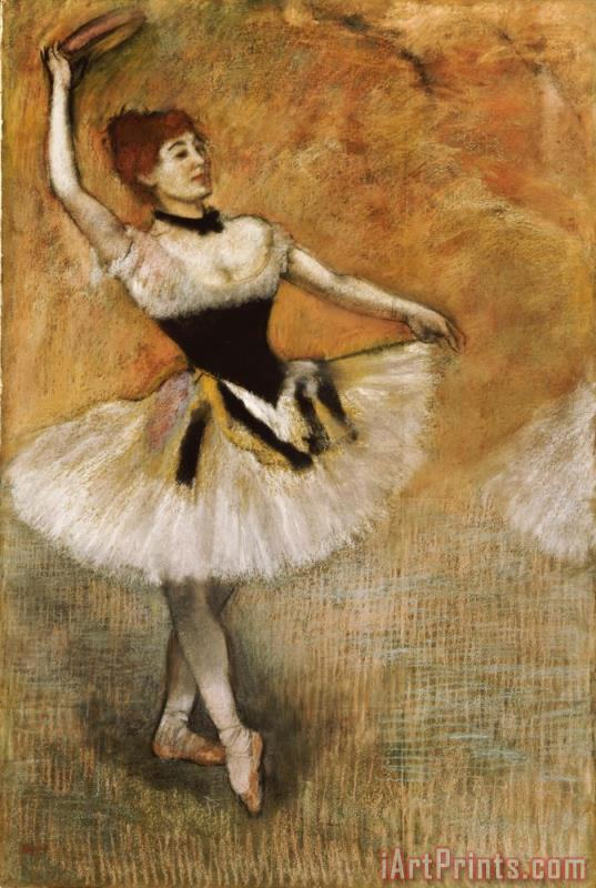 Dancer with Tambourine painting - Edgar Degas Dancer with Tambourine Art Print