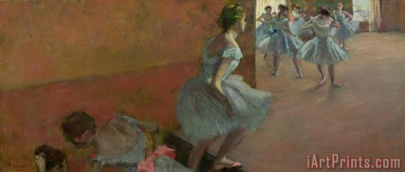 Dancers Ascending a Staircase painting - Edgar Degas Dancers Ascending a Staircase Art Print