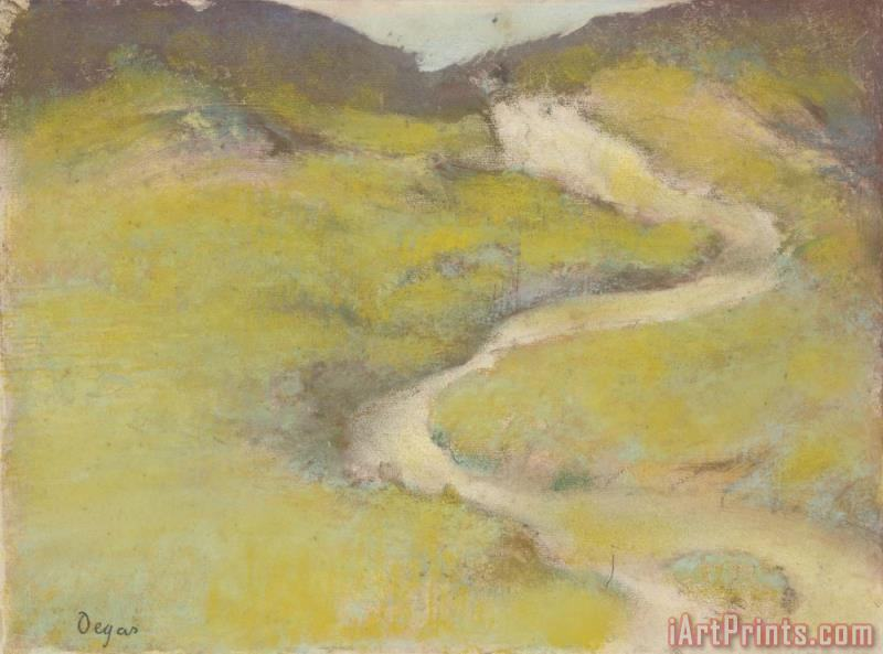 Pathway in a Field painting - Edgar Degas Pathway in a Field Art Print
