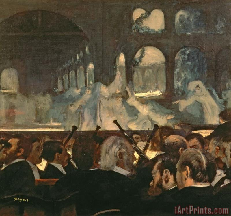 Edgar Degas The ballet scene from Meyerbeer's opera Robert le Diable Art Print
