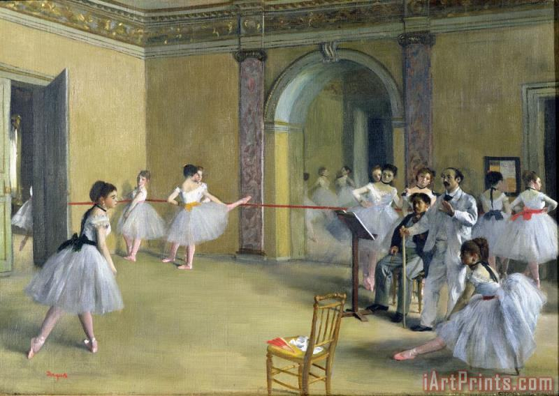 Edgar Degas The Dance Foyer at the Opera on the rue Le Peletier Art Print