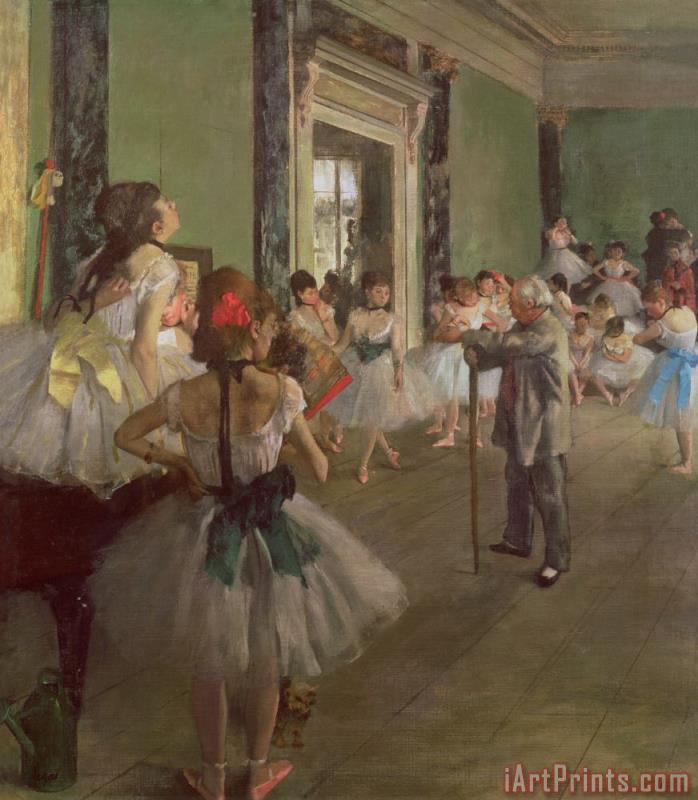Edgar Degas The Dancing Class Art Print