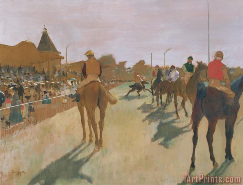 The Parade, Or Race Horses in Front of The Stands painting - Edgar Degas The Parade, Or Race Horses in Front of The Stands Art Print