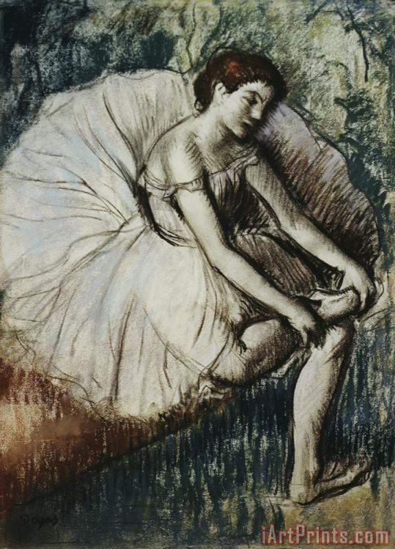 Tired Dancer painting - Edgar Degas Tired Dancer Art Print