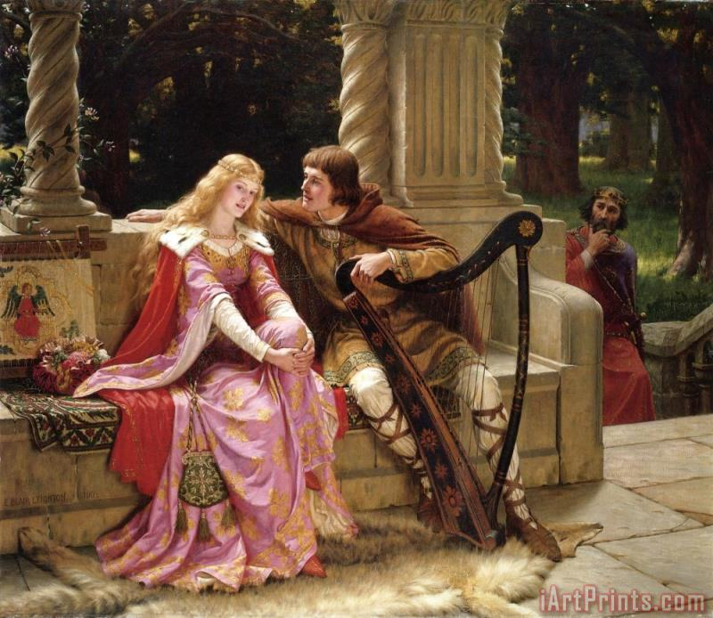 Edmund Blair Leighton The End of The Song Art Print