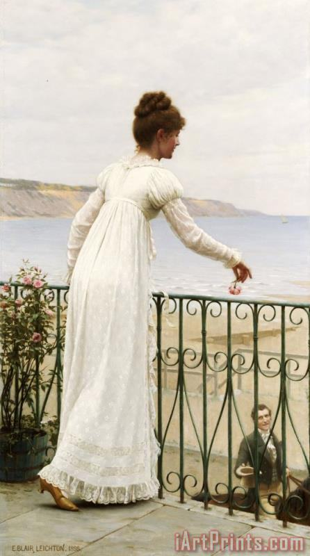 A Favour painting - Edmund Blair Leighton A Favour Art Print