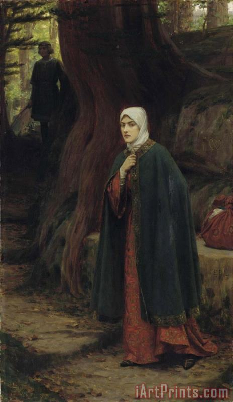 Edmund Blair Leighton A Footstep Art Print