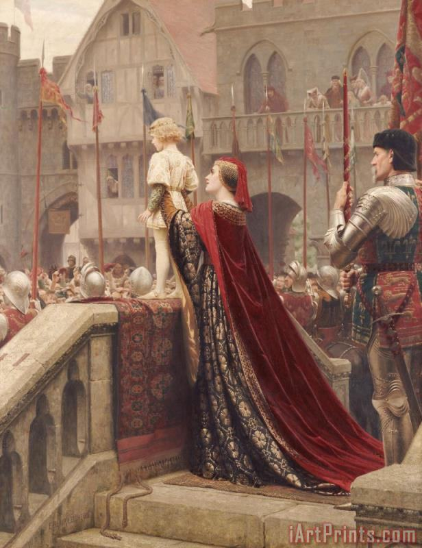 Edmund Blair Leighton A Little Prince Likely In Time To Bless A Royal Throne Art Print