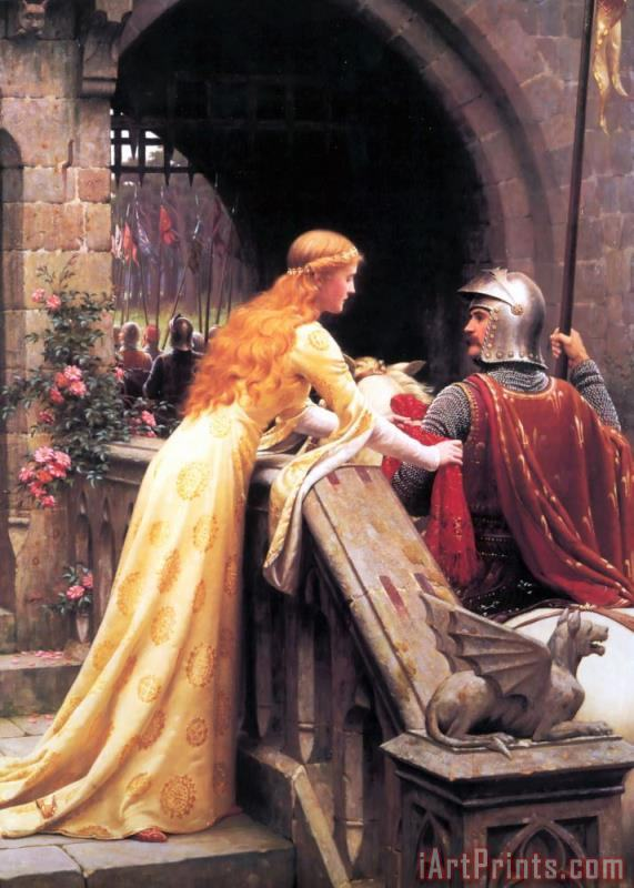 God Speed! painting - Edmund Blair Leighton God Speed! Art Print