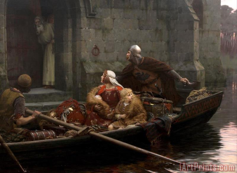 In Time of Peril painting - Edmund Blair Leighton In Time of Peril Art Print