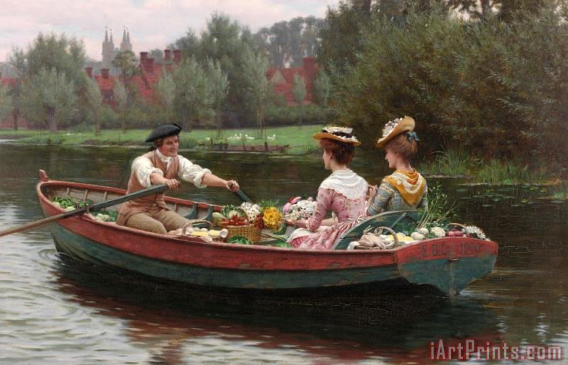 Edmund Blair Leighton Market Day Art Print