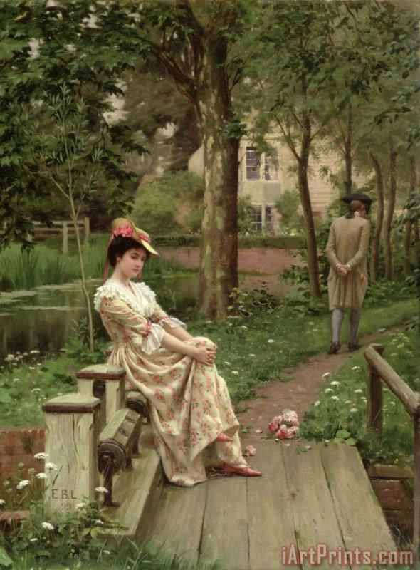 Off painting - Edmund Blair Leighton Off Art Print
