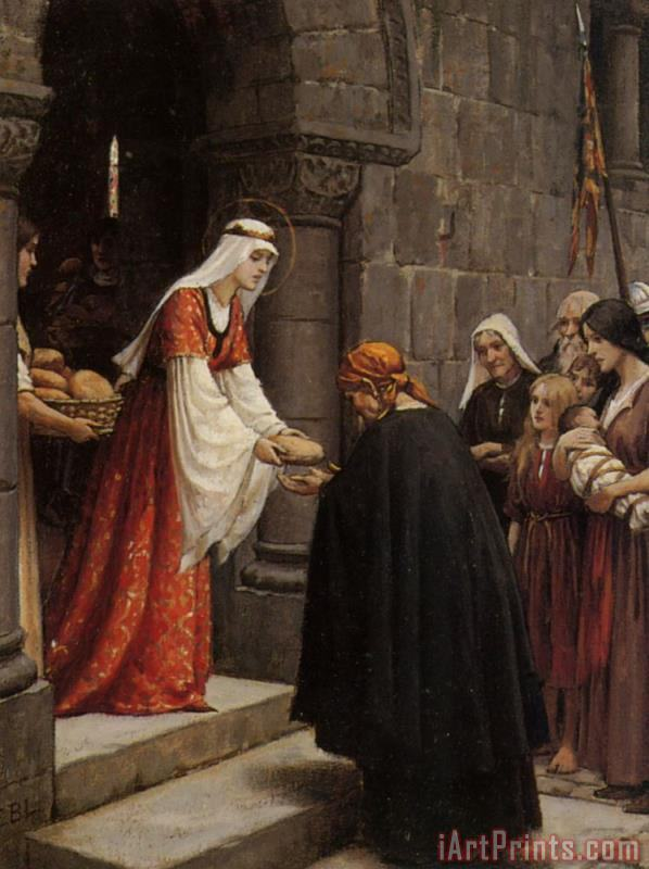 Study for The Charity of Saint Elizabeth of Hungary painting - Edmund Blair Leighton Study for The Charity of Saint Elizabeth of Hungary Art Print