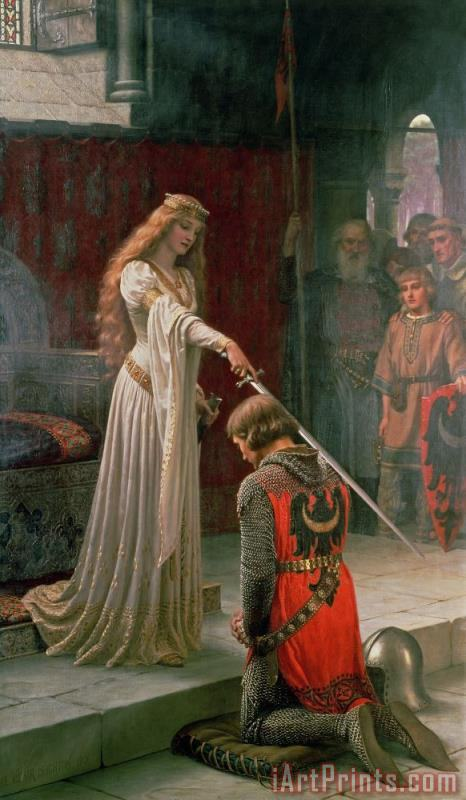 Edmund Blair Leighton The Accolade Art Print