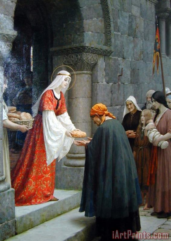 The Charity of St. Elizabeth of Hungary painting - Edmund Blair Leighton The Charity of St. Elizabeth of Hungary Art Print