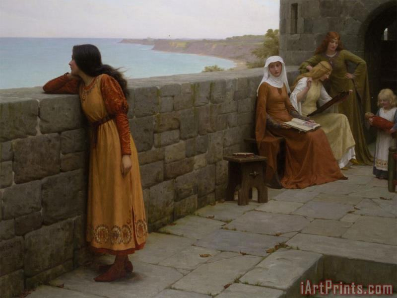 The Hostage painting - Edmund Blair Leighton The Hostage Art Print